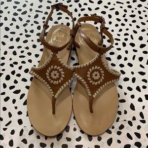 Jack Rogers Woven Tan Sandals